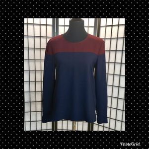 Zara Color Block Blouse M